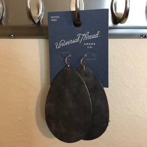 large leather front earrings